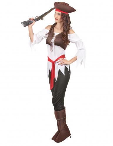 Costume da pirata con pantalone per donna-1