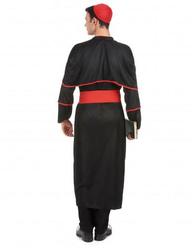 Costume nero da vescovo per adulto-2