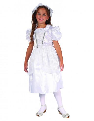Costume carnevale per bambina sposa in bianco