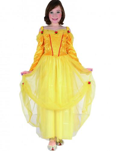 Costume da principessa per bambina in giallo e rosso