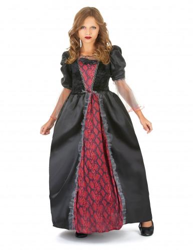 Costume vampiro bambina nero e rosso