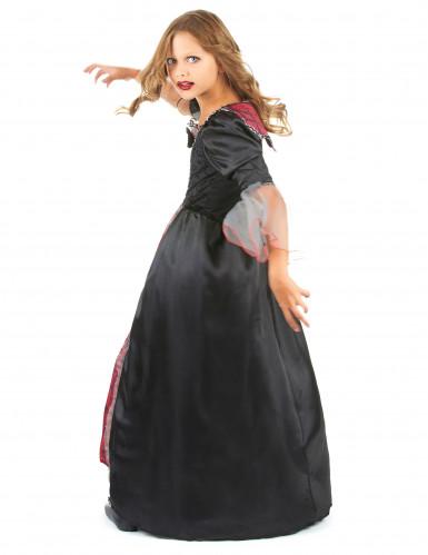 Costume vampiro bambina nero e rosso-2