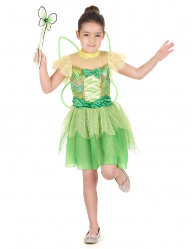 Costume da fatina colore verde da bambina