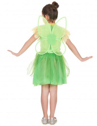 Costume da fatina colore verde da bambina-2