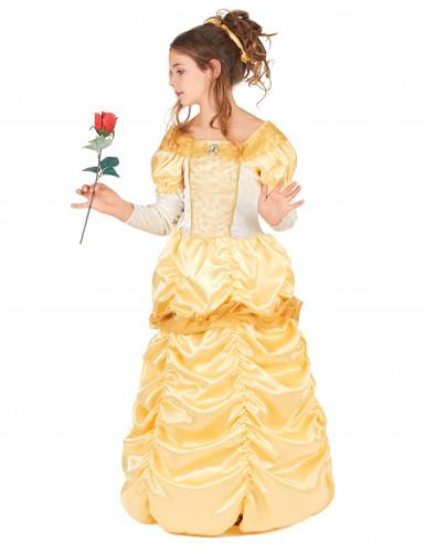 Costume da principessa colore giallo bambina-1