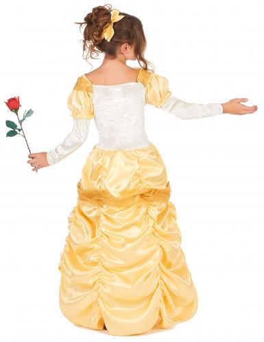 Costume da principessa colore giallo bambina-2