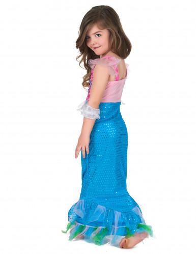 Costume da sirena di colore rosa e azzurro per bambina-2