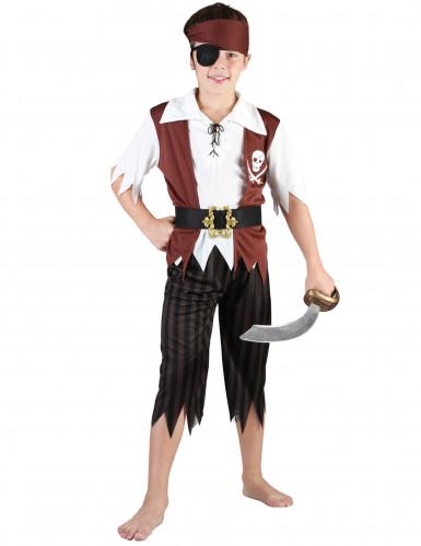 Costume marrone da pirata per bambino