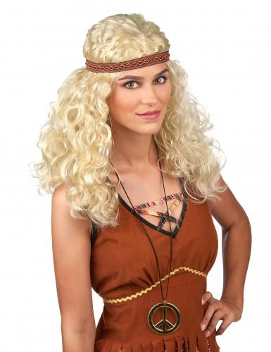 Parrucca stile hippy bionda per donna
