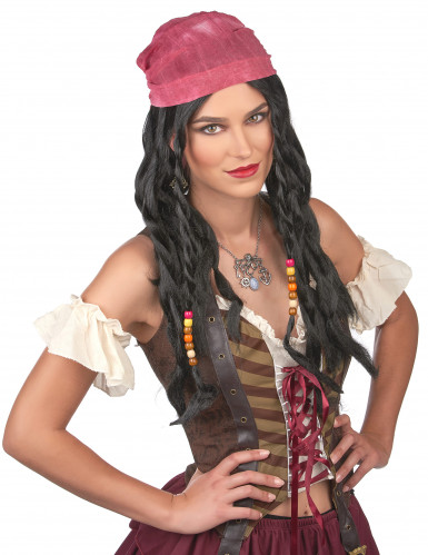 Parrucca da pirata per uomo-1