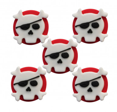 Set 5 guarnizioni in zucchero per torte Pirata