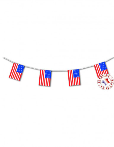 Ghirlanda bandierine USA in plastica