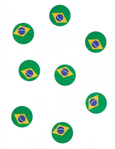 Coriandoli da tavola con bandiera del Brasile