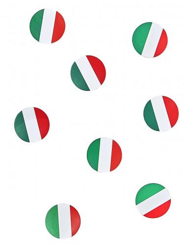 Coriandoli da tavola con la bandiera dell'Italia