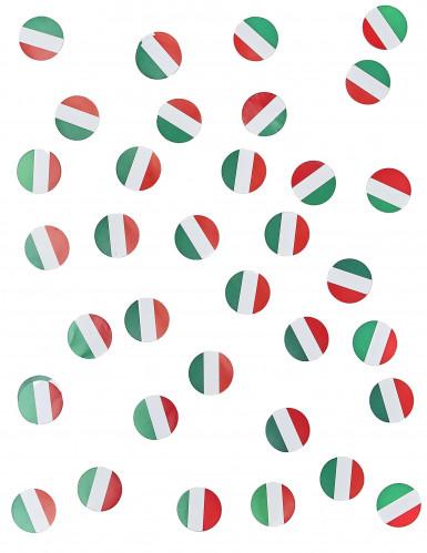 Coriandoli da tavola con la bandiera dell'Italia-1