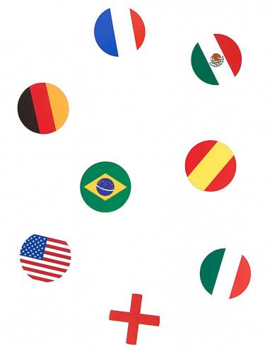 150 coriandoli realizzati a forma di bandiere Nazionali