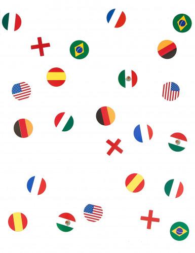 150 coriandoli realizzati a forma di bandiere Nazionali-1