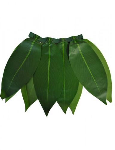 Gonna Hawaiana con foglie verdi per bambina