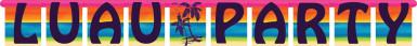 Banner hawaiano multicolore