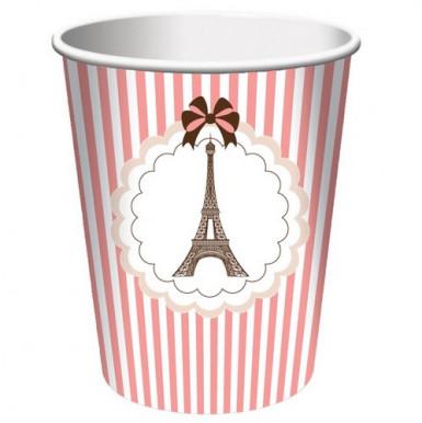 8 bicchieri Tour Eiffel