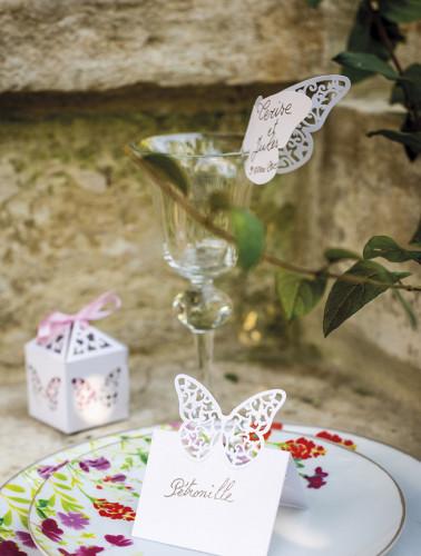 10 farfalle bianche di pizzo segna-posto-1
