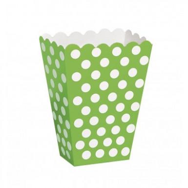 Confezione da 8 scatole porta pop corn