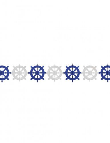 Ghirlanda con timoni bianchi e blu
