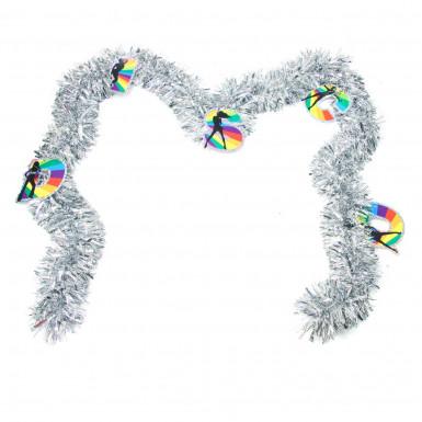 Ghirlanda a forma di boa decorativo stile disco