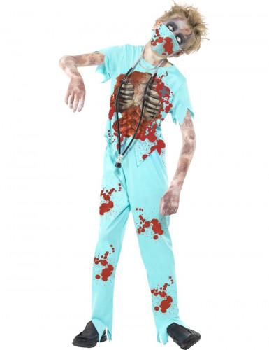 Costume da dottore zombie per bambino