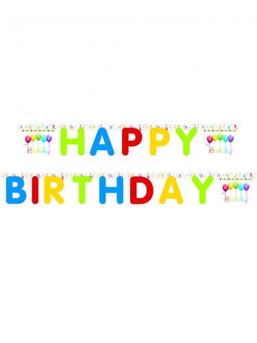 Festone con lettere appese Happy birthday
