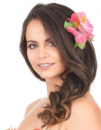 Fermaglio con fiori rosa Hawai