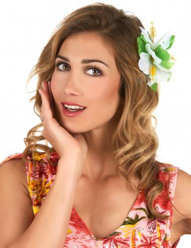 Fermaglio con fiori bianchi Hawaii