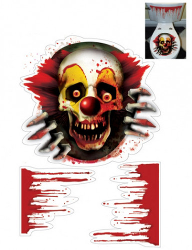 Decorazione adesiva Halloween Zombie clown