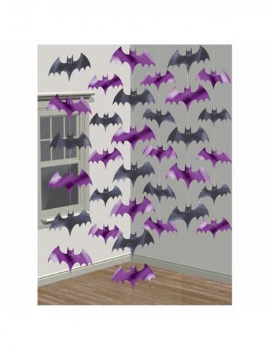 Decorazione pipistrelli viola e neri da appendere