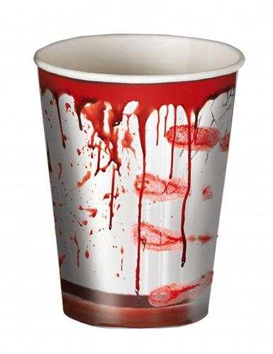 8 Bicchieri Halloween insanguinati