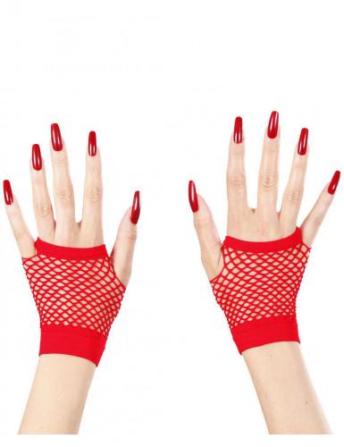 Guantini a rete rossi senza dita