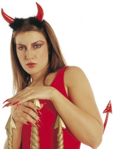 Corna da diavolo di colore rosso per adulto