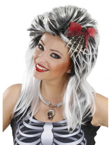 Fermaglio per capelli composto da una mano di scheletro per Halloween