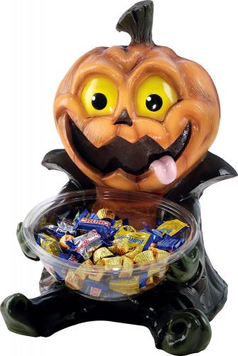 Porta caramelle con zucca di Halloween