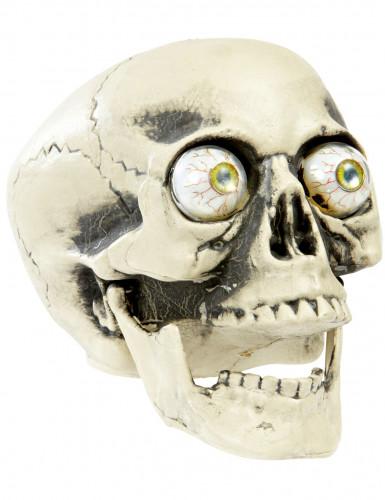 Teschio per Halloween con occhi globulosi