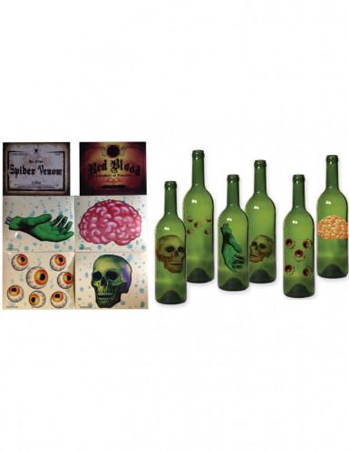 6 Decorazioni per bottiglie stile Halloween