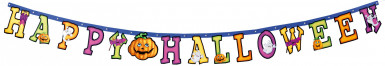 Ghirlanda colorata Happy Halloween