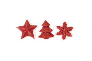 12 Decorazioni da tavolo per Natale rosse misura 2.5 cm