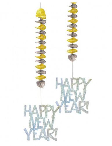 Addobbi da appendere con scritta Happy New Year