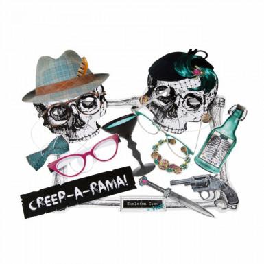 Set di accessori per foto da scheletri Halloween
