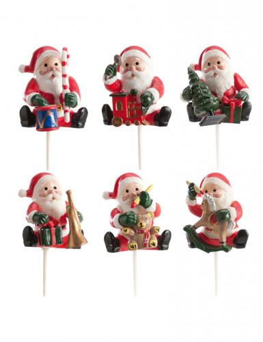 Kit con 6 decorazioni per dolci di Babbo Natale