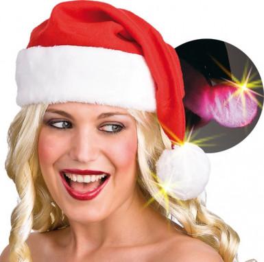 Berretto con pompon luminoso Natale