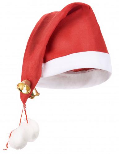 Cappello natalizio con campanelli per adulto