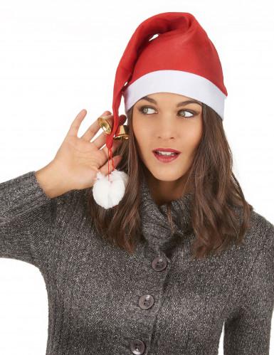 Cappello natalizio con campanelli per adulto-2