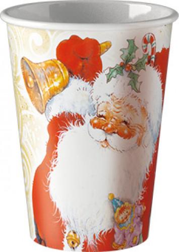 8 Bicchieri di carta con Babbo Natale